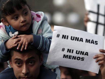 Marcha contra la violencia machista en febrero de 2016 en Puebla (México).