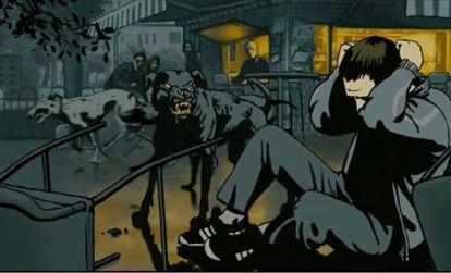 Imagen de 'Vals con Bashir', sobre la matanza de Sabra y Chatila (Líbano, 1982).
