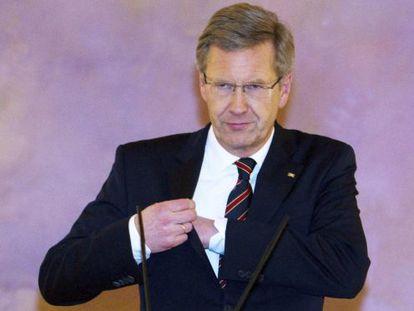 El presidente alemán, Christian Wulff, el pasado diciembre en el palacio de Bellevue, en Berlín.
