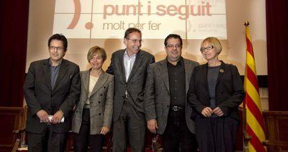 De izquierda a derecha, Daniel Font, Pia Bosch, Raimon Obiols, Joan I. Elena y Maria Badia.