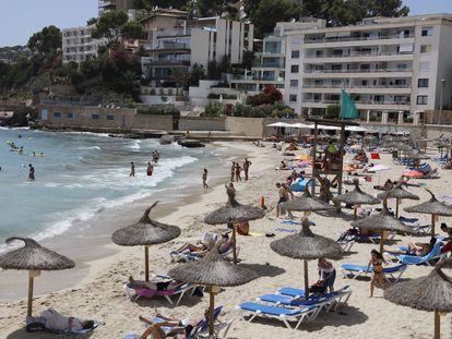 La playa de Cala Major, en Mallorca, el pasado agosto.