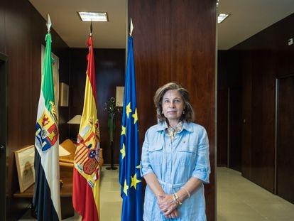 Pilar Blanco-Morales, vicepresidenta y consejera de Hacienda y Administración Pública de la Junta de Extremadura, en Mérida, el pasado día 15.