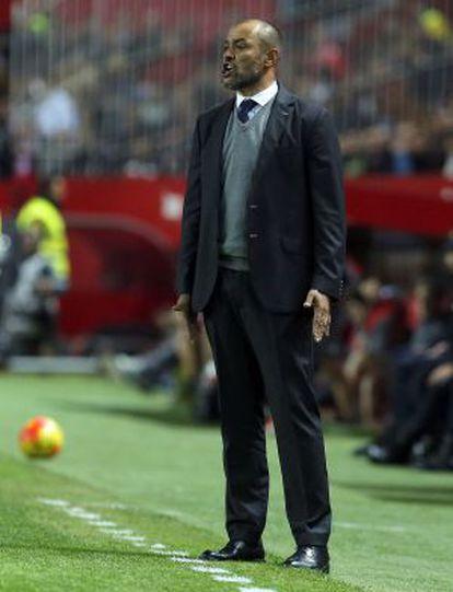 Nuno, durante el partido en Sevilla.