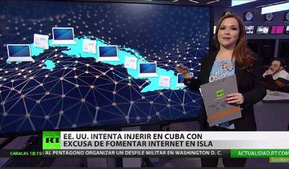 Una noticia de RT en Español sobre un plan de EEUU para extender el acceso a internet en Cuba.