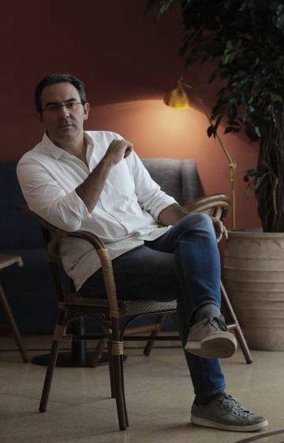 Juan Gabriel Vásquez, este lunes en Madrid.