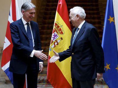 Margallo recibe a Philip Hammond, este jueves.