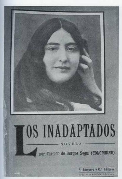 Portada de 'Los inadaptados' (1909), el retrato de la autora es de unos 10 años antes.