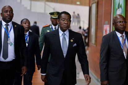 El presidente de Guinea Ecuatorial, Theodoro Obiang Nguema, el lunes pasado en la cumbre de la Unión Africana en Addis Abeba.