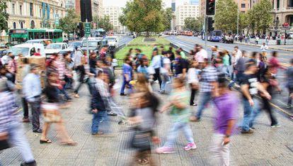Un paso de peatones en Santiago de Chile.