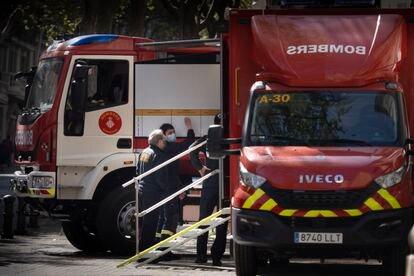 Bomberos de Barcelona, en una imagen de archivo.