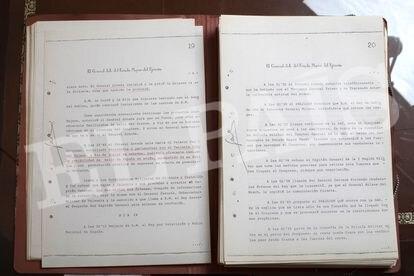 Declaración ante el juez instructor del jefe del Estado Mayor del Ejército, José Gabeiras.