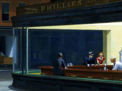 'Nighthawks' (1942), obra de Edward Hopper, perteneciente a la colección del el Art Institute of Chicago.