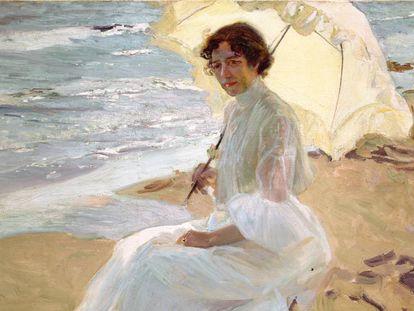 La obra 'Clotilde en la playa' (1904).