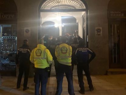 La Policía Municipal desaloja una fiesta en Madrid a principios de mes.