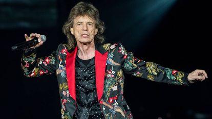 Mick Jagger en uno de los conciertos de su gira celebrado el 19 de octubre en Nanterre, Francia.