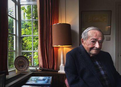 George Steiner en su casa de Cambridge (Reino Unido) en 2016.