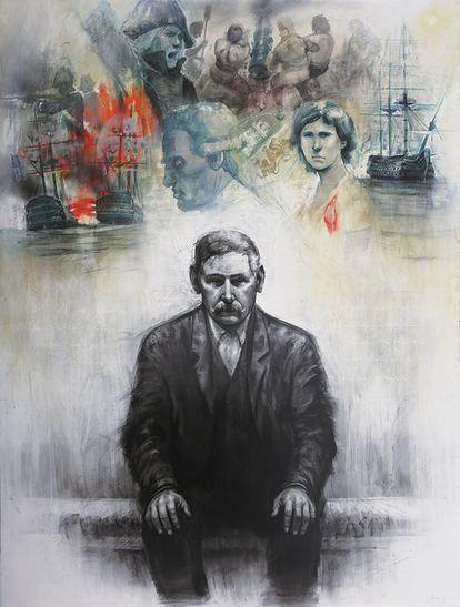 'Ars, natura, veritas', una de las obras de la exposición dedicada al Trafalgar de Galdós.