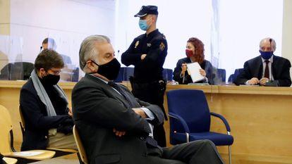 Luis Bárcenas, extesorero popular, durante el juicio de la caja b, que ha comenzado esta semana en la Audiencia Nacional.