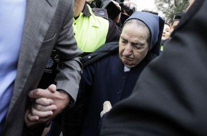 Sor María Gómez Valbuena, en los juzgados de Madrid el pasado 12 de abril.