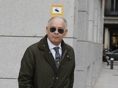El comisario Eugenio Pino, tras comparecer en la Audiencia Nacional en enero de 2019.