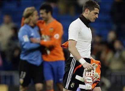 Casillas se lamenta al final del partido