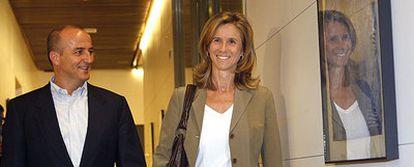 La ministra de Ciencia e Innovación, junto a su mentor político, el ministro de Industria, Turismo y Comercio, Miguel Sebastián.