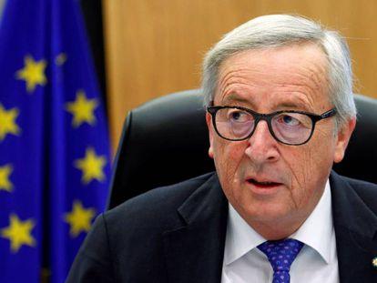 El presidente de la Comisión Europea, Jean-Claude Juncker, la semana pasada en Bruselas.
