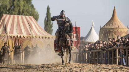 Escena de torneo, en 'El Cid'.