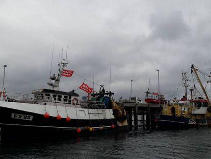 Varios barcos atracados en el puerto de Newlyn.