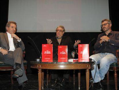 Los periodistas Iñaki Gabilondo, José María Izquierdo y Miguel Ángel Oliver