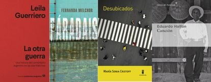 Covers of some of the featured books.