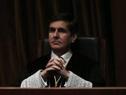 González-Trevijano en una toma de posesión en el Tribunal Constitucional, en marzo de 2014.