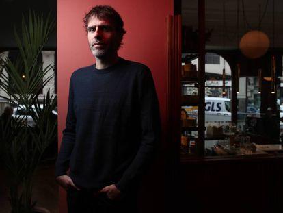 El escritor Nicolás Giacobone, en el Hotel de las Letras, la semana pasada.