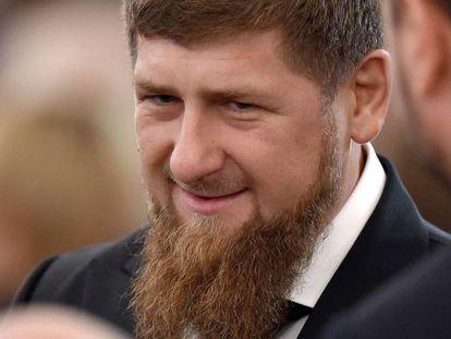 El líder checheno, Ramzan Kadyrov, en diciembre de 2016, antes de una reunión con el presidente Ruso, Vladímir Putin.