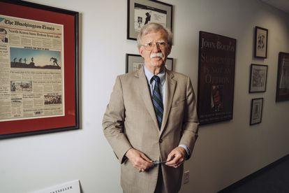 John Bolton, en su despacho de Washington el pasado martes.