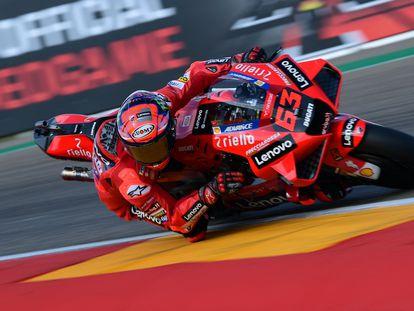 El italiano Francesco Bagnaia en la sesión de clasificación para el GP de Aragón el sábado, 11 de septiembre.