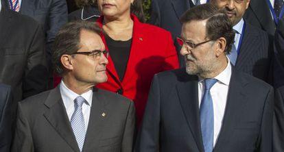 Artur Mas y Mariano Rajoy el pasado octubre.