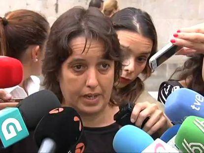 Margarita Dopico, madre de un niño asesinado por su padre.