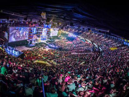 El escenario del torneo el ESL One en Katowice 2015, celebrado en marzo.