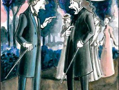 Adaptación gráfica de 'El hombre que fue Jueves' (Nórdica), de Marta Gómez-Pintado.