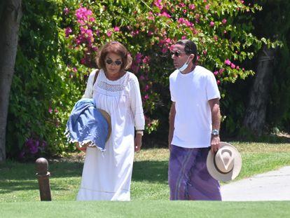 Jose María Aznar y Ana Botella, en Marbella el pasado martes.