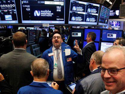 Actividad en la Bolsa de Nueva York.