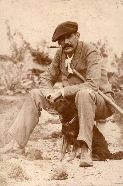 Benito Pérez Galdós, en 1894, en la última visita que realizó a Gran Canaria, en la finca familiar de Los Lirios.
