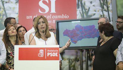 La presidenta andaluza, Susana Díaz, esta mañana.