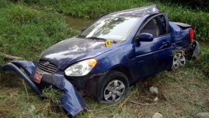 Imagen del vehículo accidentado en el que viajaba Payá.
