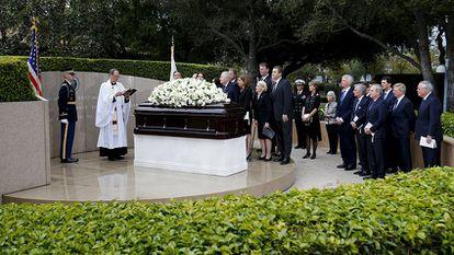Funeral por Nancy Reagan en Simi Valley, California.