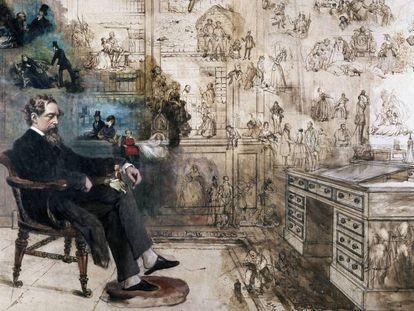 El sueño de Dickens, de Robert Williams Buss.