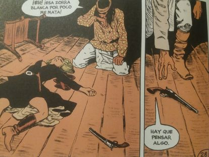 A scene from the comic 'Rencor apache', published by Norma Editorial.