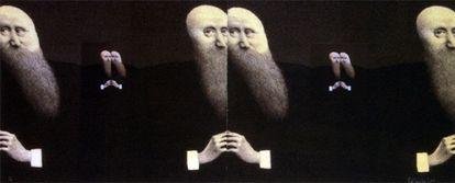 'El reflejo del tiempo', una de las obras de Alfredo Castañeda que acoge la exposición del Instituto de México en Madrid.