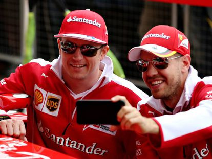 Raikkonen y Vettel, este jueves en Silverstone
